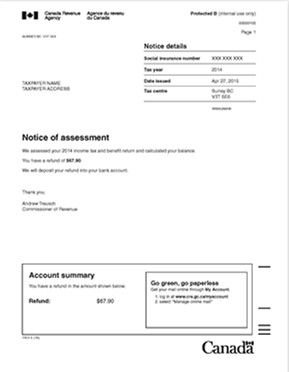 Notice-of-assessment